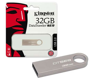Kingston Data Traveler Flash Drive USB 2.0 Memory Stick – 32GB