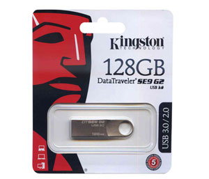 Kingston Data Traveler SE9 G2 USB 3.0 Flash Drive - 128GB