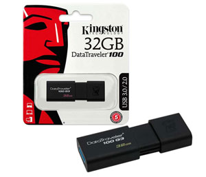 Kingston Data Traveler 100 G3 USB 3.0 Flash Drive - 32GB