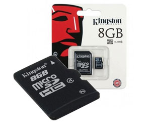 Kingston Micro SD SDHC Memory Card Class 4 - 8GB