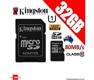 Kingston SD SDHC UHS-I Canvas Select 80MB/s Class 10 - 32GB