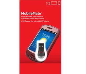 SanDisk SDDR-121-G35 MobileMate USB MicroSD Card Reader-Black
